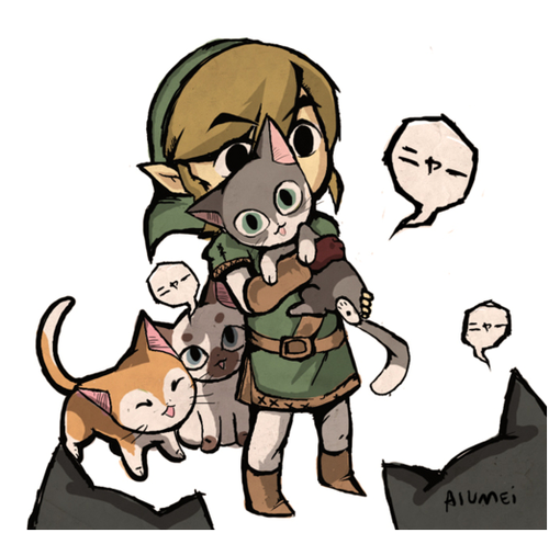 toon link with bow