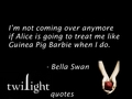 Twilight quotes 301-320 - bella-swan fan art
