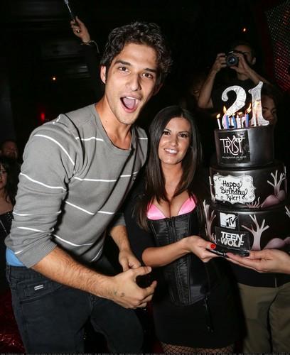 Tyler Posey's 21st Birthday Celebration at Tryst Nightclub in Las Vegas