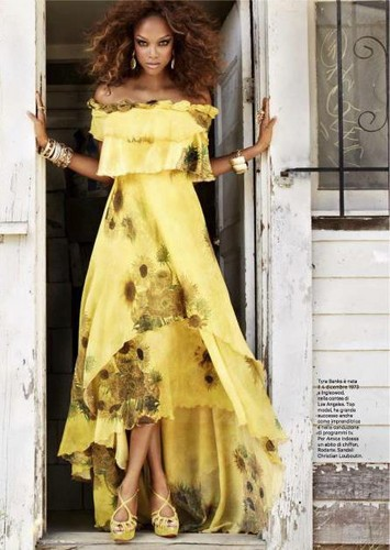 Tyra Banks for AMICA magazine