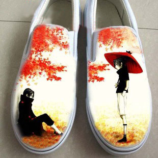 Uchiha Sasuke hand painted shoes