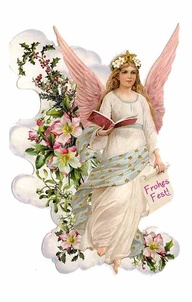 angeli wallpaper with a bouquet entitled Vintage Natale Angel From Germany