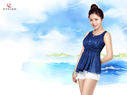 Shin Se Kyung wallpaper probably containing a playsuit titled Vivien