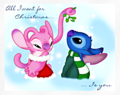 Walt Disney shabiki Art - Angel & Stitch