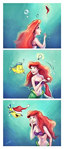 Walt disney fan Art - Princess Ariel & menggelepar