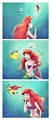 Walt Disney Fan Art - Princess Ariel & Flounder - walt-disney-characters fan art