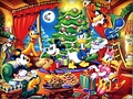 Walt Disney Wallpapers - The Disney Gang @ Christmas - walt-disney-characters wallpaper