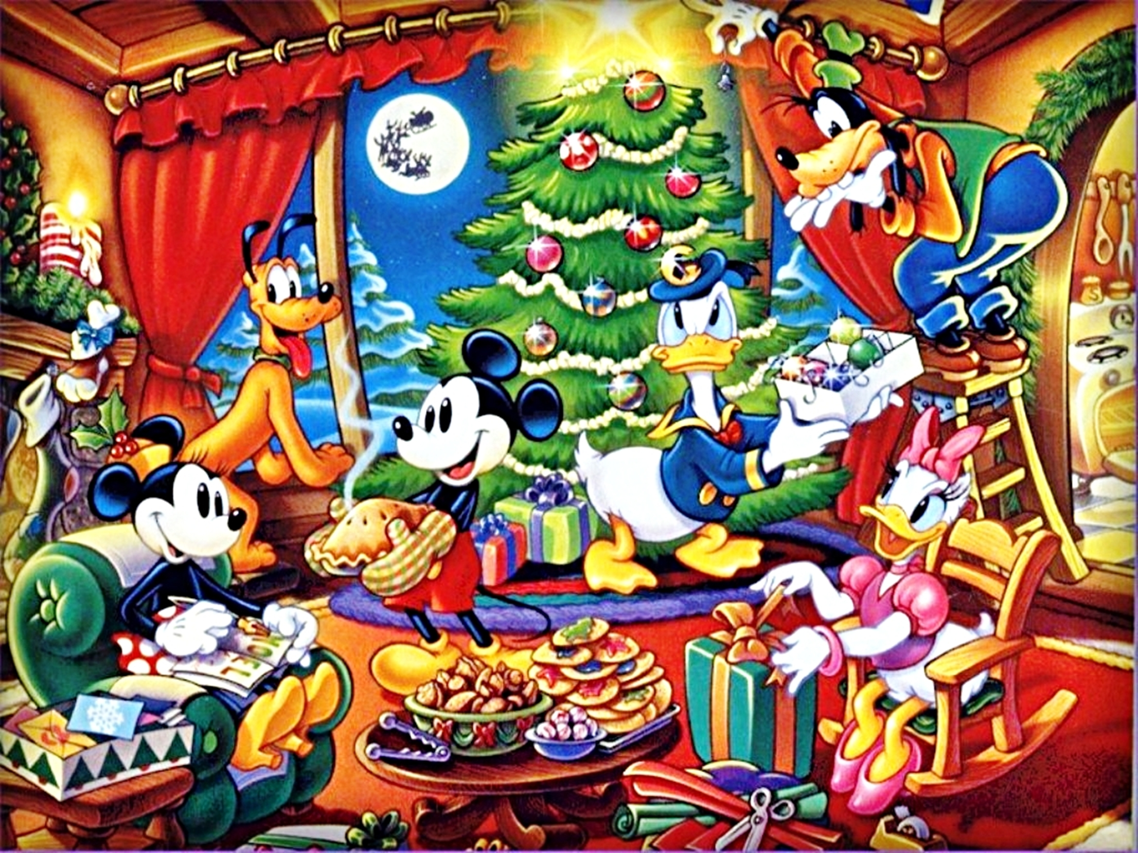 Walt Disney Christmas Wallpaper.Walt Disney Wallpapers The Disney Gang Natal