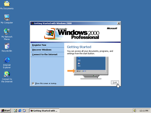 Windows 2000 screenshot