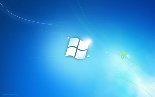 Windows 7 blue پیپر وال