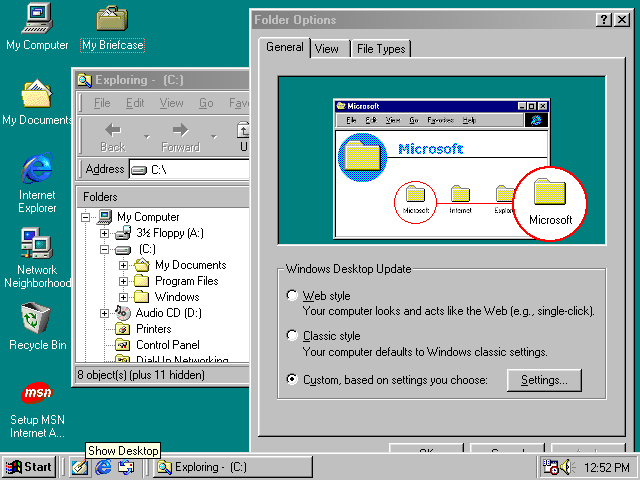 Windows 98 screenshot microsoft windows photo 32902385 for Microsoft windows windows