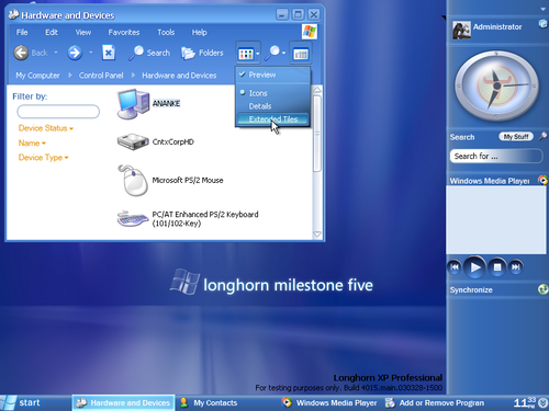 Windows Longhorn screenshot