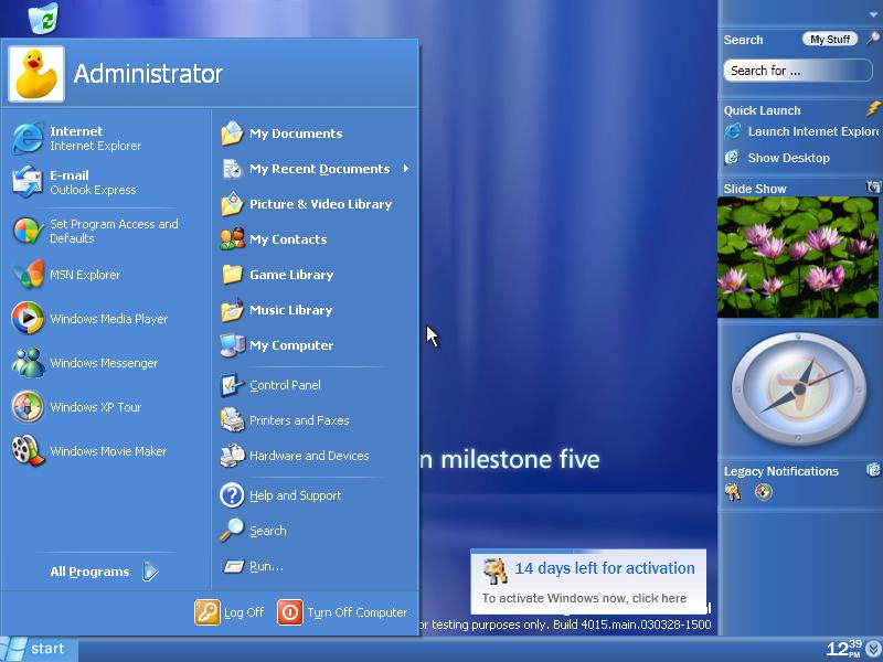 Windows longhorn screenshot microsoft windows photo for Microsoft windows windows