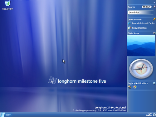 Windows Longhorn screenshot
