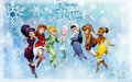 Winter Fairies - disney-fairies wallpaper