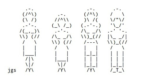 Women in ASCII Art