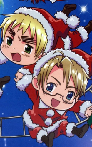 Hetalia wallpaper possibly containing anime titled christmas