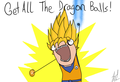 get all dragonballs - dragon-ball-z photo