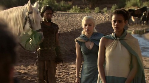 Daenerys Targaryen and the translator Missandei
