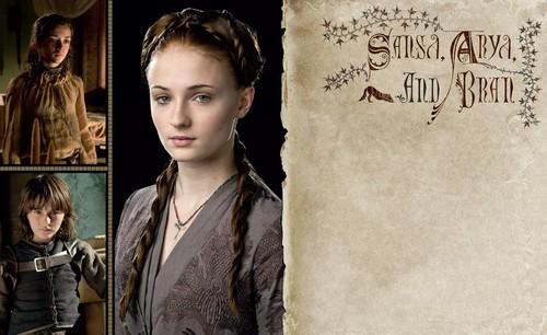 Sansa, Arya & Bran Stark