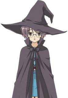 human nagato in witch costume