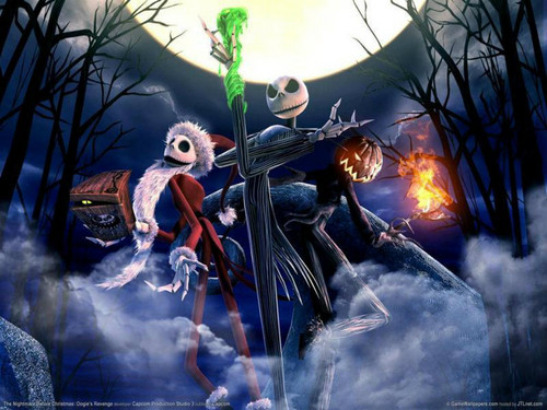 Nightmare Before Christmas wallpaper containing a fire and anime called jack