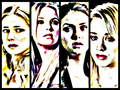 kaley, cuoco, emily, vancamp, nina, dobrev, ashley, benson - tmnt-girls wallpaper