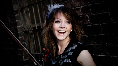 Lindsey Stirling wolpeyper possibly with a konsiyerto and a portrait titled lindsey stirling