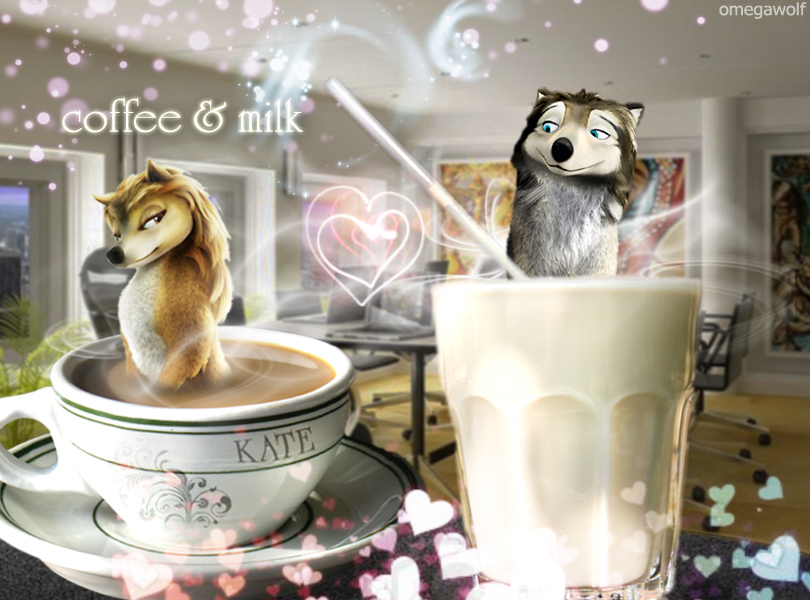 lait and coffie