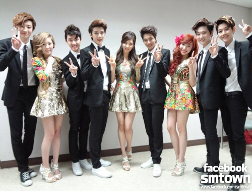Girls generation & Exo (Exoshidae) images taetiseo and exo wallpaper and background photos