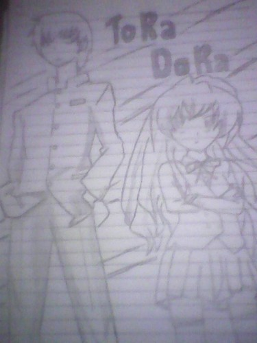 Anime Drawing Hintergrund called tora dora