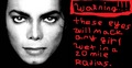 warning - michael-jackson photo