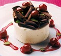 white chocolate and cherries parfait - chocolate photo