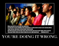 you're doing it wrong - atheism photo