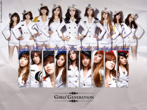 kpop 4ever wallpaper probably with a sign called ♥Girls Generation♥
