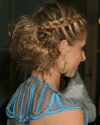 A close up on Sarah's hair