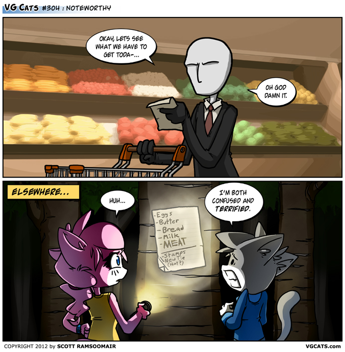 The Slender Man AerinDeer28's comics P.S this is my fav