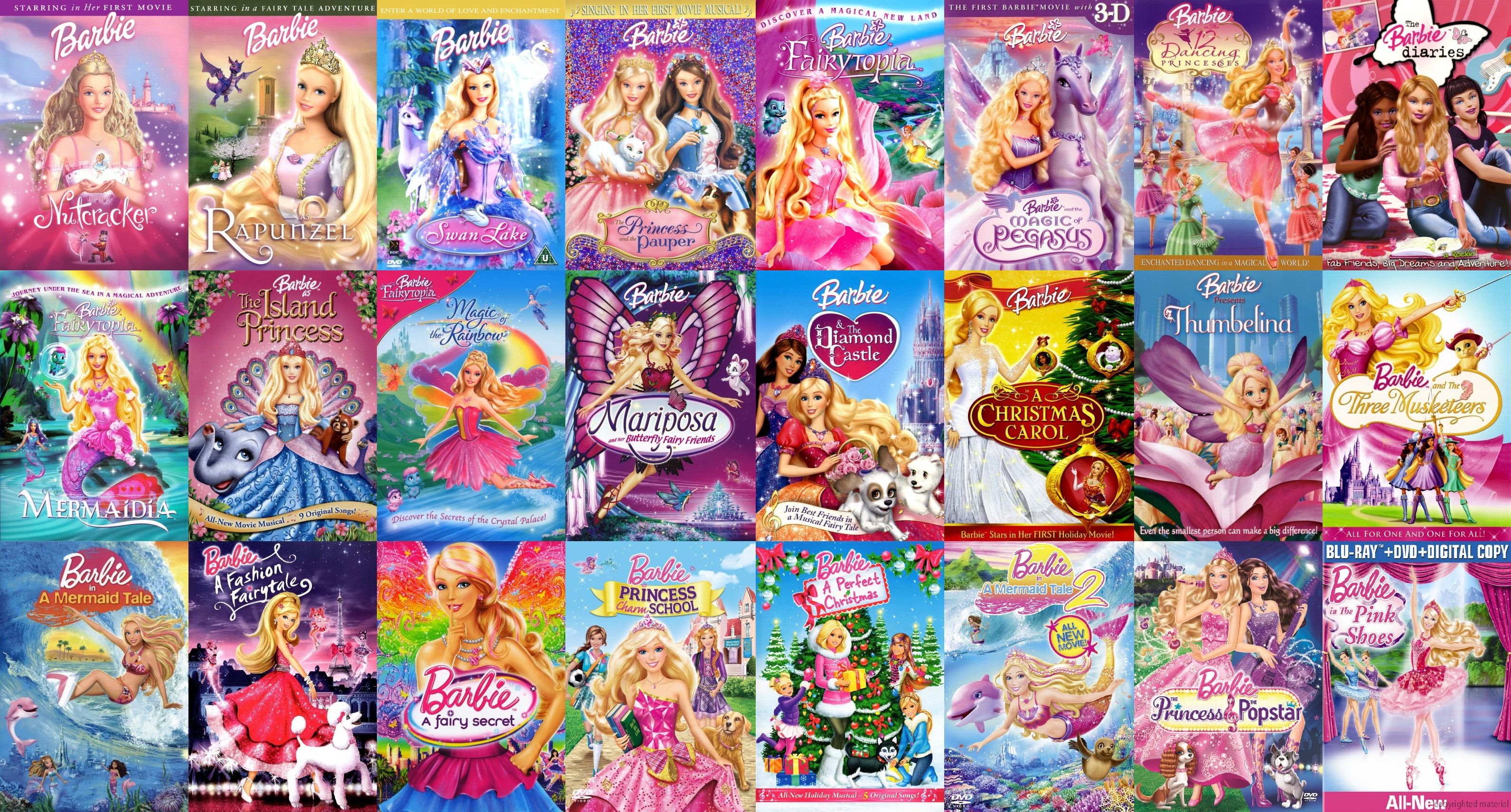 All Barbie films