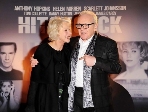Sir Anthony Hopkins wallpaper probably with a business suit titled Anthony&Helen Mirren