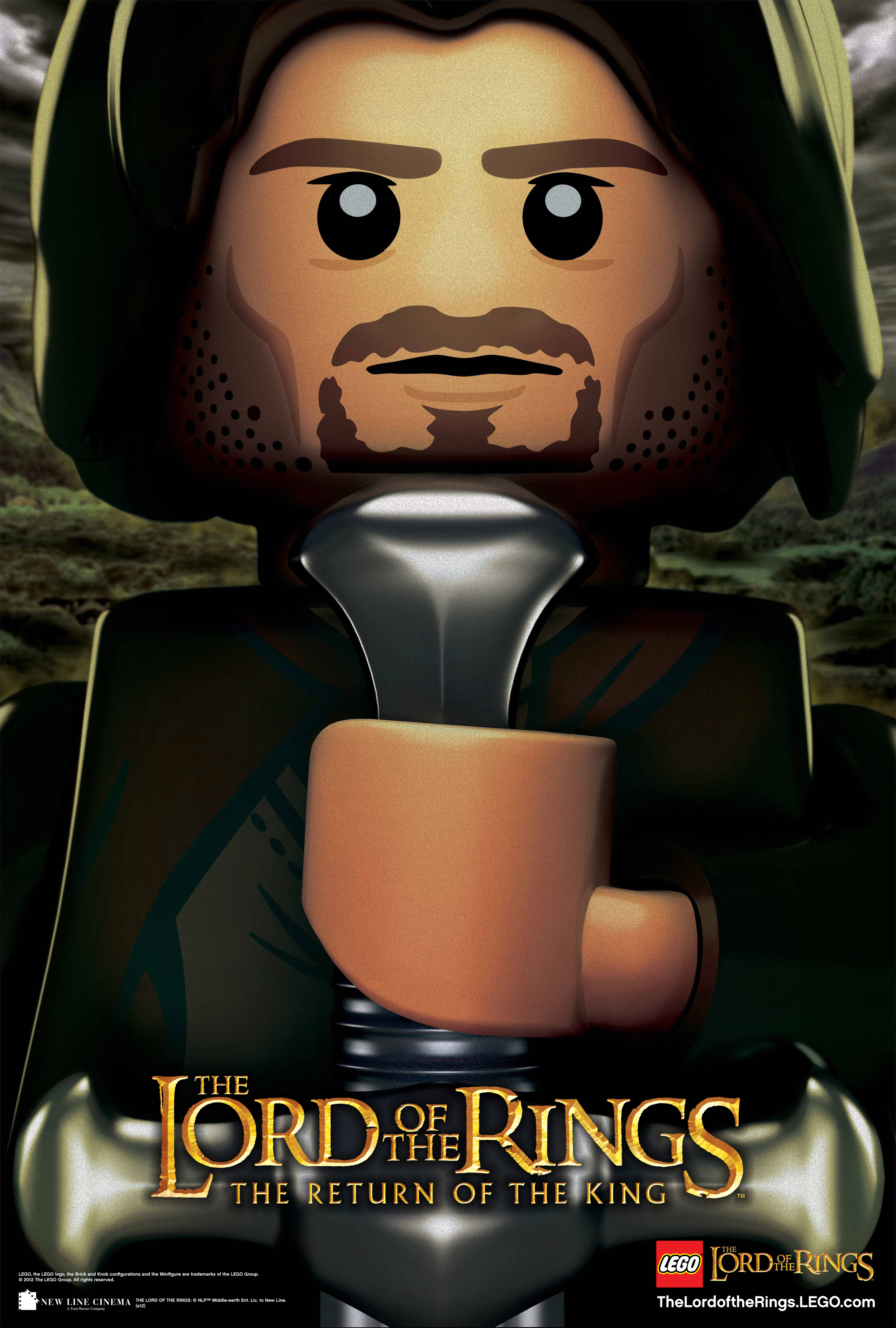 Aragorn Lego collection poster