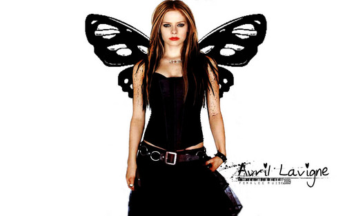 avril lavigne wallpaper with a koktil, koktail dress, a legging, and a hip boot titled Avril Lavigne