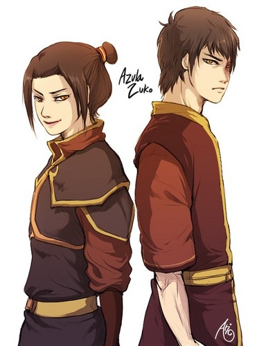 Avatar: The Last Airbender achtergrond possibly with anime called Azuka and Zuko