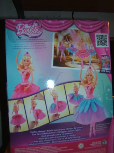 Sinema za Barbie karatasi la kupamba ukuta possibly with anime entitled Back of the Kristyn doll box