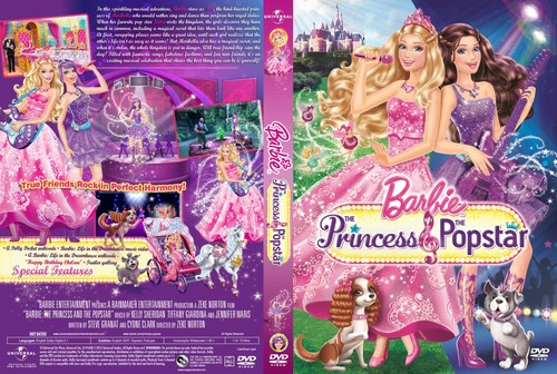 Sinema za Barbie karatasi la kupamba ukuta possibly with anime entitled Barbie sinema DVD covers