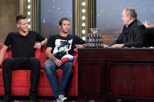 Berdych and Stepanek talk show