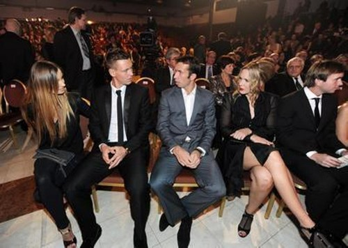 Berdych and Stepanek with women..