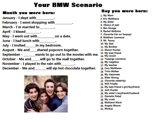 Boy Meets World birthday scenario