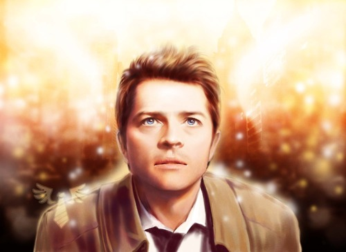 Castiel वॉलपेपर probably containing a portrait entitled Castiel