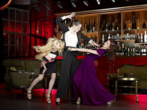 Catfights in a bar with Coco Rocha