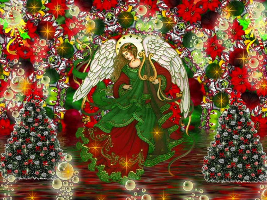 christmas angel wallpaper 2017 - Grasscloth Wallpaper